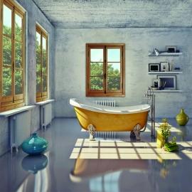 Fenêtres ancestrales à crémone en bois