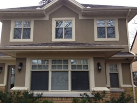 Hung windows with asymmetric sashes