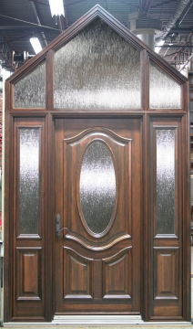 Entry-door-wood-2-sidelites-transom-special-shape
