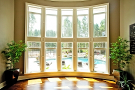 10 PVC casement windows with transoms - interior view