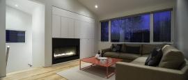 Fenêtres de PVC d'une maison contemporaine - vue intérieure
