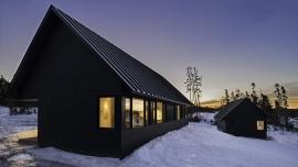 Fenêtres de PVC sur bâtiments de style contemporain