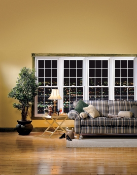 4 PVC hung windows assembly