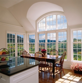 Windows and PVC windows assembly with transom