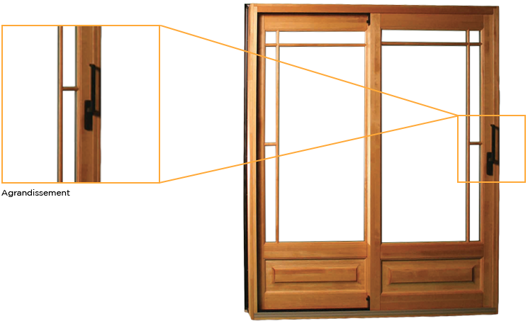 Porte Patio (patio door) bois