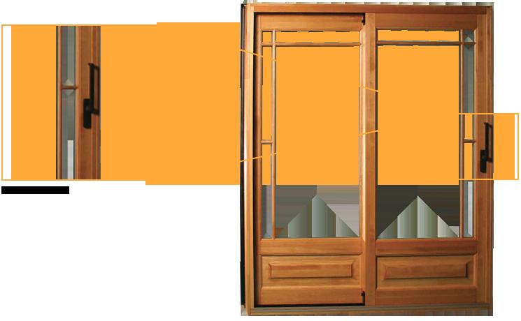 Porte Patio (patio door) bois