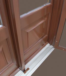 Extrusion-Aluminium-Peint-Caissons-Decoratifs-Porte-Balcon-Bois