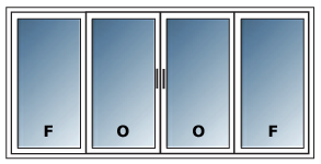 Configuration Porte Patio (patio door) PVC
