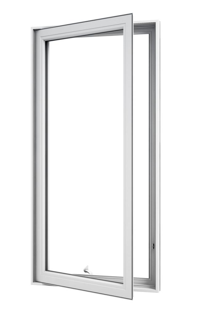 Fenêtre battant et auvent en PVC (casement and awning - PVC) style traditionnel