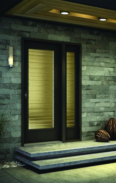 Porte d'acier (steel door) latérale contemporain